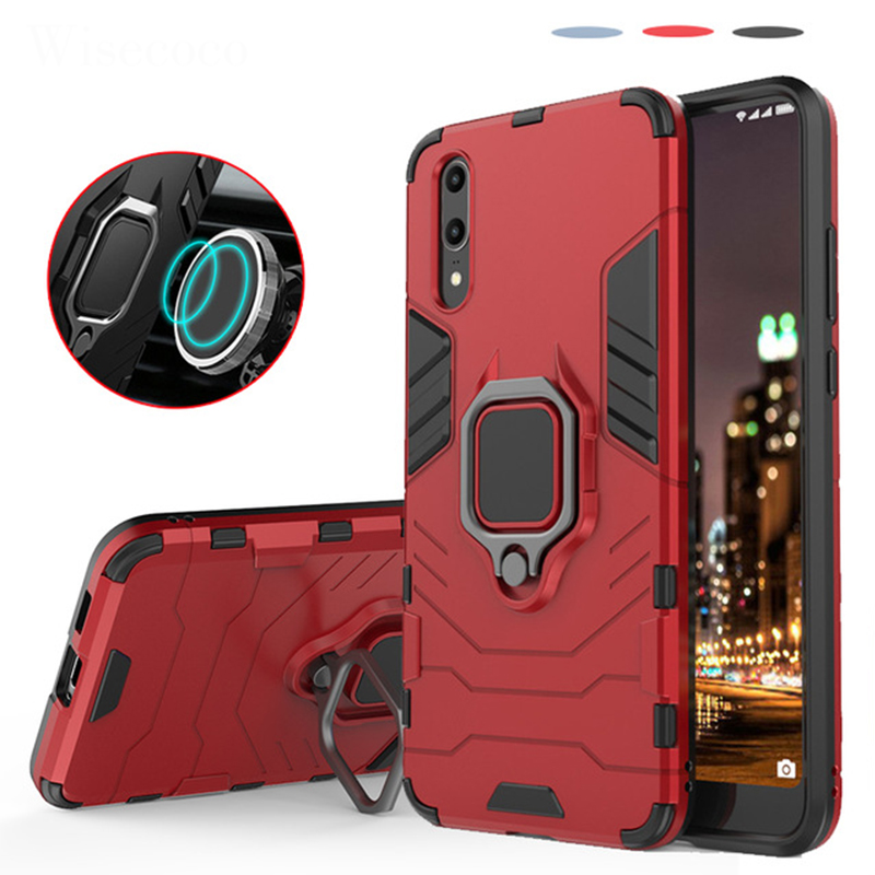 Armor Magnetic Case for <font><b>Huawei</b></font> P30 P20 Pro Lite Mate20 X Psmart <font><b>Y7</b></font> 2019 Y9 <font><b>2018</b></font> Honor 8X MAX Enjoy 7 7C 7S Car Holder Back Cover image