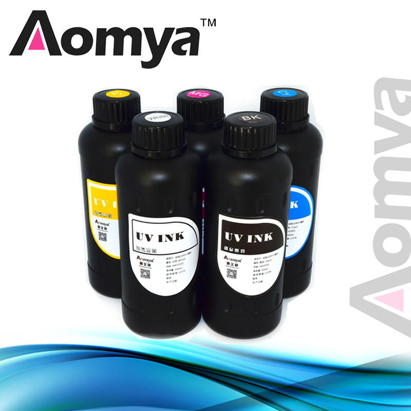 Aomya 3D printing  LED UV curable Ink for Epson printerhead can print on (phone shell,glass,metal), 8x500ml Real UV ink aomya led uv ink can print on all hard material omnipotent ink 10x1000ml