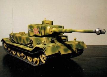 1: 25 Military Tank Wak 2006-01ex Tiger P-3d Papiermodell