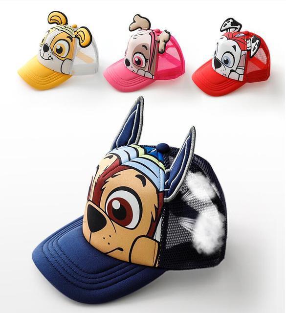 אמיתי Paw סיירת תינוק בני בנות קריקטורה חמוד נוח מכירה לוהטת שיא כובע בייסבול כובע ילדי ילדי כותנה ילדים חדשים צעצוע