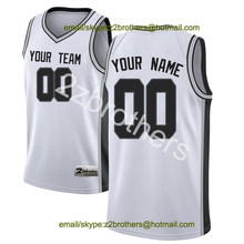0a4e2b43d China OEM Fabriek Custom Basketball Jersey San Antonio Wit Sport Trui  Ontwerp DIY Uw Eigen College
