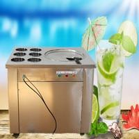 free ship CE approved 110V 220V flat pan freezing ice cream machine frying ice cream machine fried ice cream roll machine
