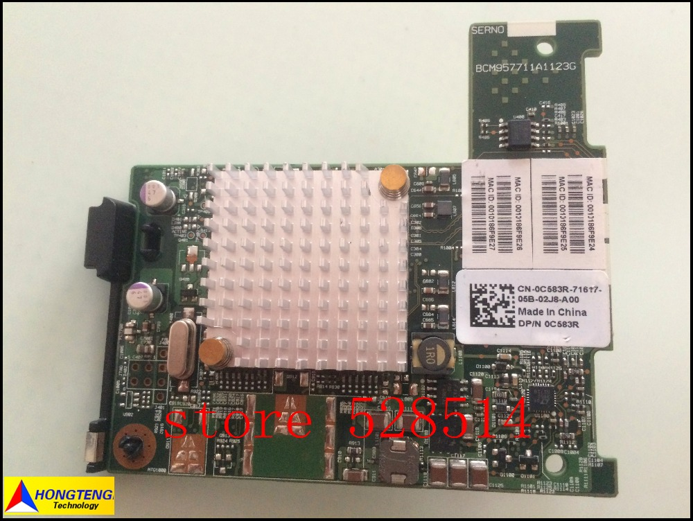 Original 0C583R CN-0C583R 0C583R FOR Dell Broadcom 57711 10gb NIc Mezzanine Style for M-Series blades 100% Test ok
