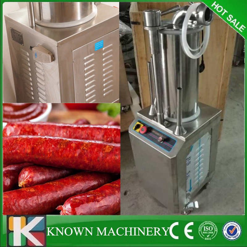Commercial dual control sausage maker hydraulic sausage filler maker ham sausage making machine free air shipping