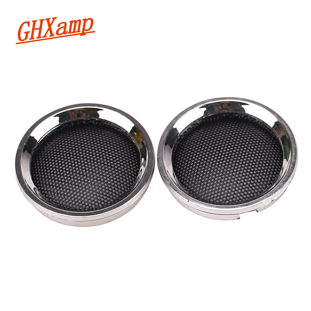 GHXAMP 2 Inch Speaker Grill Mesh Dedicated Mesh Enclosure Protective Grilles Sound Box Cover For 50MM Round Speaker 1 Pairs