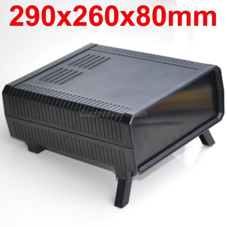 HQ Instrumentation ABS Project Enclosure Box Case,Black, 290x260x80mm.