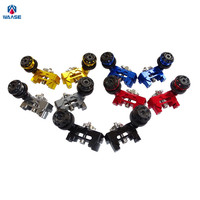 Motorcycle Parts CNC Aluminum Chain Adjusters With Spools Slider Blue For 2013 2014 2015 2016 Yamaha