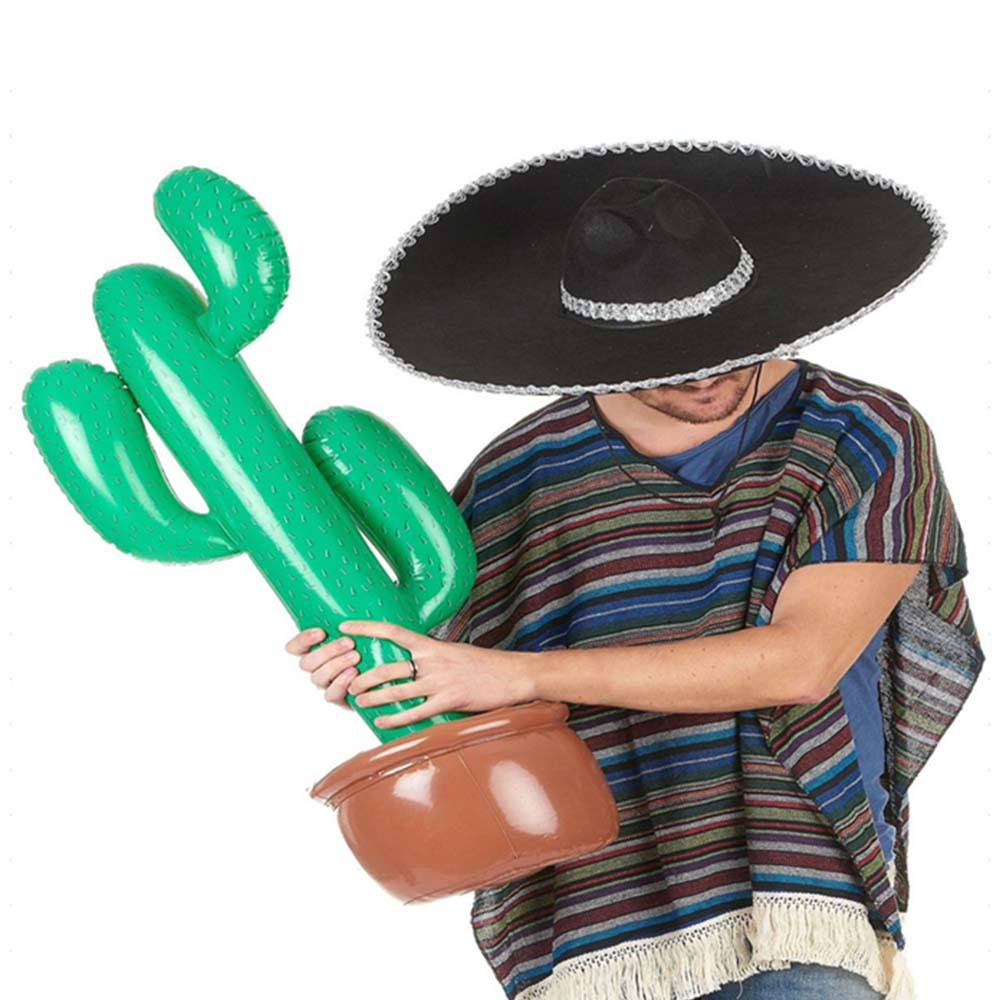 New Wild West Mexican Hawaiian Fancy Dress Party Decoration Tropical Plants Summer Beach Toy Inflatable Cactus Beach Sand Toys
