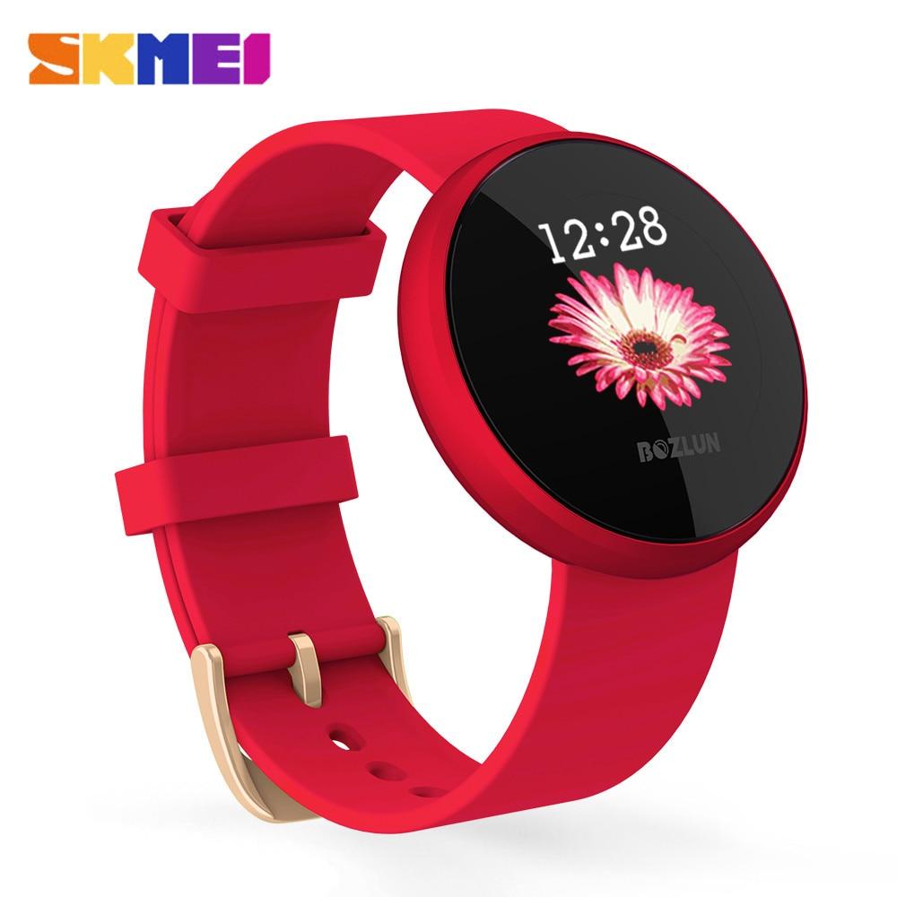SKMEI Women Smart Watch Top Heart Rate Female Period Reminder Smartwatch Ladies Wrist Sport Watches IP68