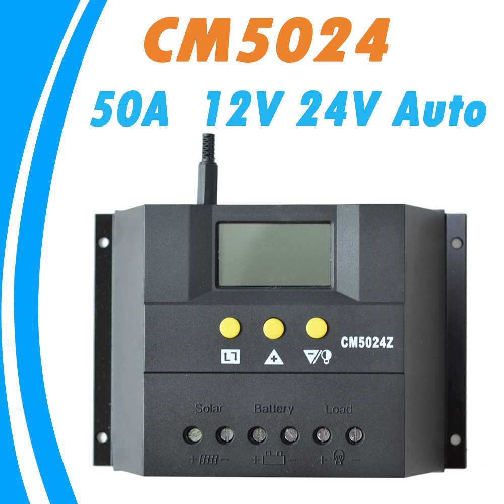 PWM 50A Solar Regulator 12V 24V Solar Charge Controller With LCD Display Temperature Compensation Hot Sale