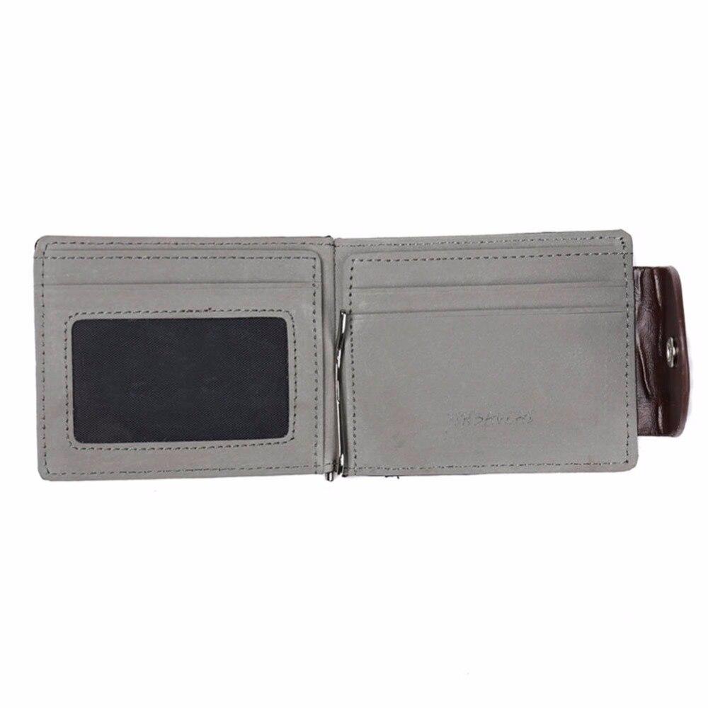 dinheiro carteira com clip em Color : Brown, gray
