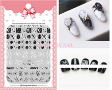 New 1 pcs 3D Adhesive Ultra thin Nail Art Stickers flowers/tag/cats design Decal Manicure nail tip Japanese style charms