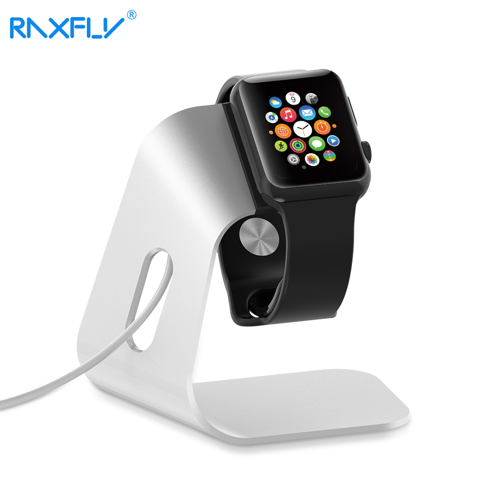 RAXFLY Smartwatch Holder Stand Universal Charger <font><b>Dock</b></font> <font><b>Station</b></font> For Apple Watch Aluminum Portable Holder Charging <font><b>Dock</b></font> For i Watch image