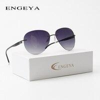 2018 ENGEYA Titanium Alloy New Fashion Rimless Sunglasses Brand Designer Luxury Driving Sun Glasses For Men Women UV400 T11002