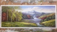 Wall Oil PaintinHand painted Art Painting Lake Mountain Wall Landscape Oil Painting Home Decoration Pictures Canvas Oil Painting