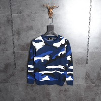 Mens Luxury Brand Designer Sweater Autumn Winter 3D Print Camouflage Sweater Men Knitted Fashion Pullovers Slim Fit High Quality