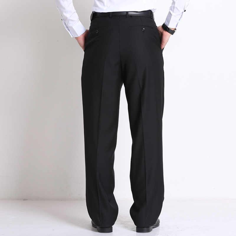 Классический черный мужской деловой костюм мужские свободные брюки средний возраст занятий Формальные Брюки
