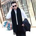 Alto grado de marca bufanda bufandas de invierno 2016 nuevos hombres de la Moda de lujo de negocios de la cachemira del color sólido espesar mantón