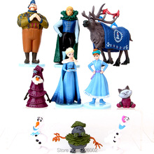 Snow Queen Elsa Anna Model Mini PVC Action Figures Princess Cartoon Anime Dolls Figurines Kids Toys for Children Birthday Gift стоимость