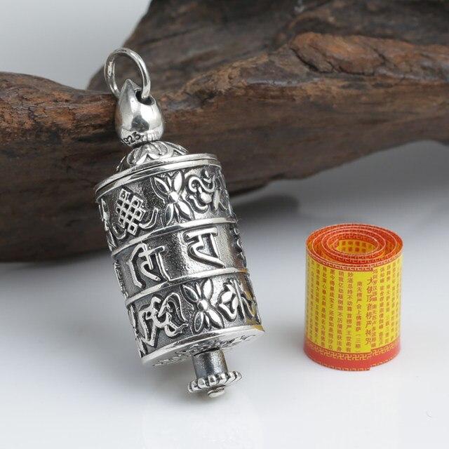 Online Shop New Vintage 925 Silver Tibetan Om Mantra Ghau Box