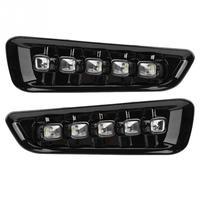 1 пара светодио дный светодиодные дневные ходовые огни поворотов двойной модели DRL для Ford F 150 Raptor 16 1718 черный цвет ABS автомобильные аксессуар