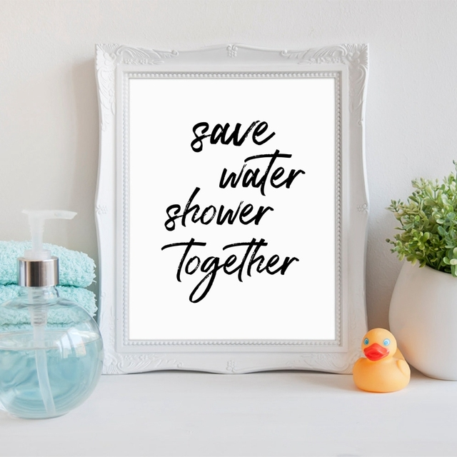 Funny Bathroom Quote Canvas Art Prints And Poster , Bathroom Wall Art Decor  Canvas Painting Get