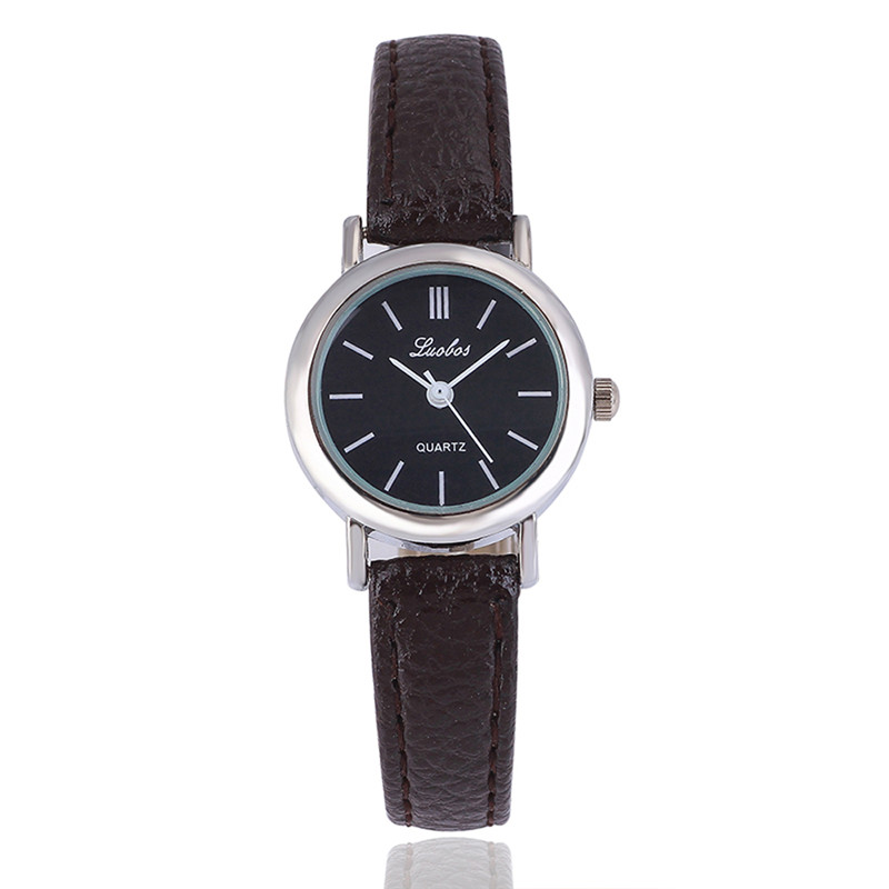 Simple fashionable quartz ladies watch new version of the fine round small lady quartz watch new round of the great game