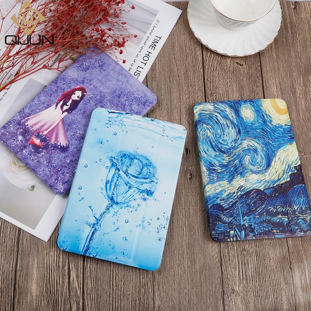 QIJUN Painted Case For IPad 2 3 4 9.7'' PU Leather Flip Stand Cover For Ipad 2/3/4 Smart Cover For A1460 A1458 A1430 A1395 Cases