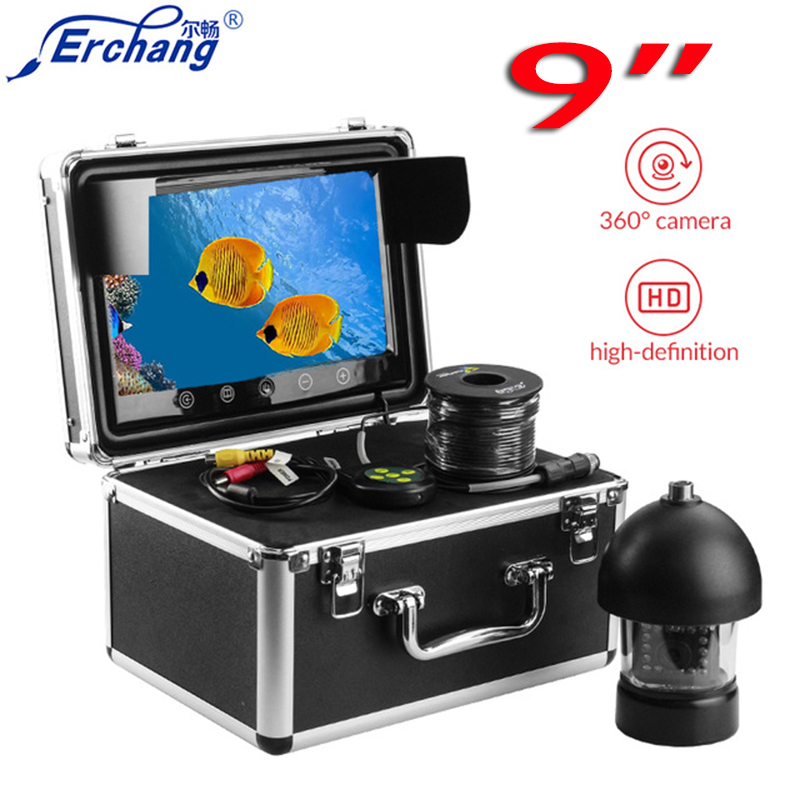 Erchang 9 Underwater Camera For Fishing 360 Rotate Underwater Fishing Camera 20m Cable Controllable Fish Finder 20m cable underwater fishing camera fish finder with 1 3 sony ccd effio e 12pcs white leds camera night vision rotate 360 degree