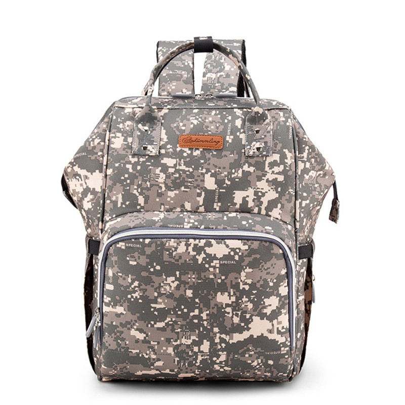 Mother and Baby Camouflage Storage Bags Upgraded Version Multi-Function Mother European and American style With USB Interface цена и фото