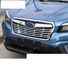 lsrtw2017 luxury shiny abs car grill net chrome trims for subaru forester SK 2019 2020