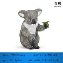 PAPO Brand Resin Animal Model Koala Bear Non-toxic Garage Kid Resin Koalas Kids Toys Collection For Adult Decoration Wholesale