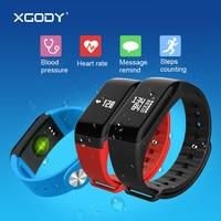 XGODY F1 reloj inteligente iOS Android impermeable podómetro del ritmo cardíaco presión arterial calorías Smart Watch hombres Fitness pulsera