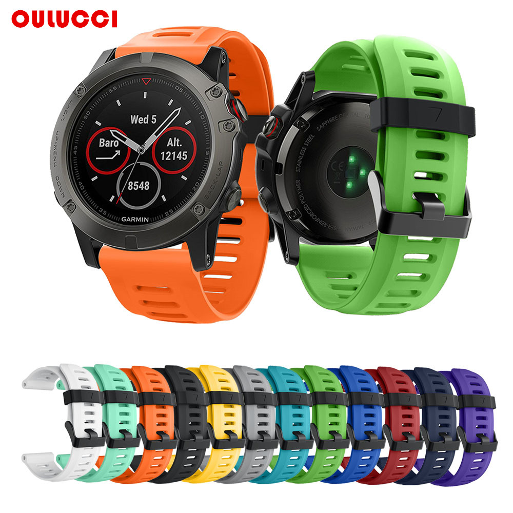 NEW 26mm Silicone GPS watch wrist bands for Garmin Fenix 5X strap Band Fashion sports outdoor smart watch replacement band