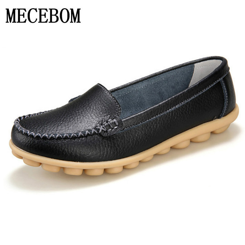 2017 New Leather Women Flats Moccasins Loafers Wild Driving women Casual Shoes Leisure Concise Flat In