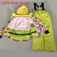 Новинка: модные детские водонепроницаемые лыжные костюмы зимние куртки и парки для детей детский зимний комбинезон для девочек куртки для