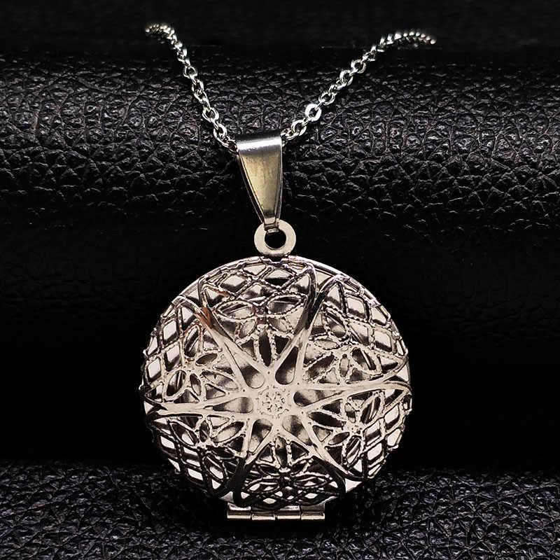 Hollow Love Round DIY Secret Message Locket Stainless Steel Necklaces Pendants Openable Gift For Lover Couples Custom Message