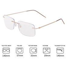 73e433284 Ultra-leve Multifocal Progressiva Presbiopia Óculos de Leitura Sem Aro  Unisex Inteligente(China)