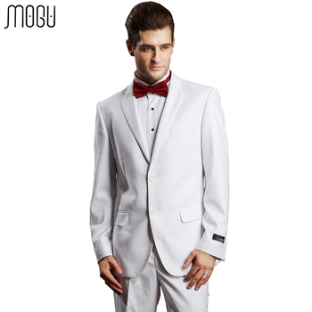MOGU Two Piece Wedding Suits For Men Slim Fit 2017 New Arrival Fashion Solid Formal Suits Men High Quality Asian Size Mens Suits