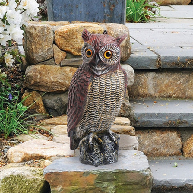 ZILIN Free Shipping Garden Owl Decoy /bird Repellent Owl 18*17*42 Cm