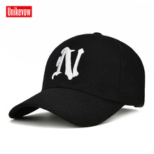 UNIKVOW 1Piece Winter Baseball Cap Solid color leisure hats with N letter embroidered cap for men and women concise women s satchel with letter and solid color design