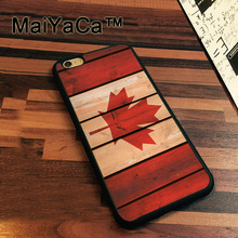MaiYaCa Canada Flag Case For iPhone 7 Cases Slim Rubber Coque For iPhone7 Soft TPU Back Cover For iPhone 7(China)