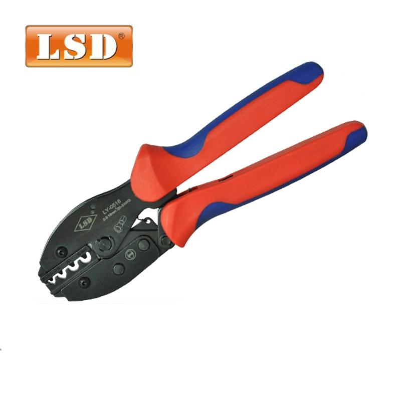 Zangen Ly-0516 Kabel Lug Crimpen Werkzeuge 0.5-16mm2 Ratsche Nicht-isolierte Terminal Crimpen Zange