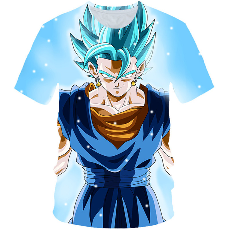 4-20Y 2019 Summer Children Dragon Ball Z T shirts Boys Girl Super Saiyan Ultra Instinct Tshirts Kids Goku Vegeta Printed T-shirt(China)