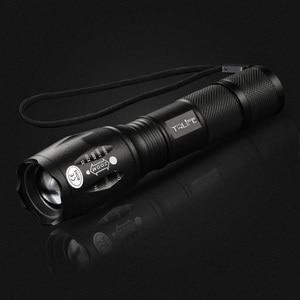 Image 2 - Linternas L2 táctica Led, linterna Ultra brillante T6, luz de Camping, 5 interruptor de cambios, luz de senderismo con zoom, luz de batería 18650