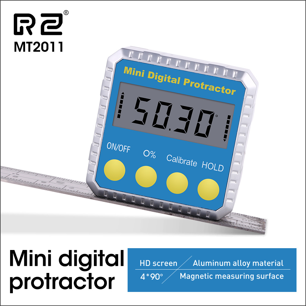 RZ Angle Protractor Universal Bevel 360 Degree Mini Electronic Digital Protractor Inclinometer Tester Tools MT2011