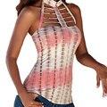 Lace Up T Shirts Women 2017 Summer Sleeveless Female tshirt Blusa Sexy Off Shoulder Choker Tops Women Tee Shirt Femme Hollow out