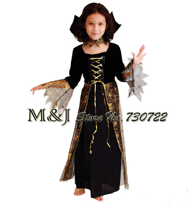 erratic beautiful spider witch witch costume play halloween costumes dress cute girl - Spider Witch Halloween Costume