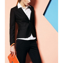 Bespoke Womens Work Wear Jacket Formal Lady Casual Business Office Pants Suit