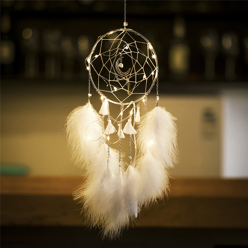 Led Dream Catcher Lights For Child Lady Hanging Dwelling Wall Bed room Dreamcatcher Present For Youngsters Wedding ceremony Get together Ornament